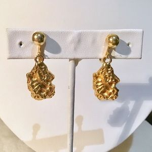❇️Vintage Gold Nugget Earrings